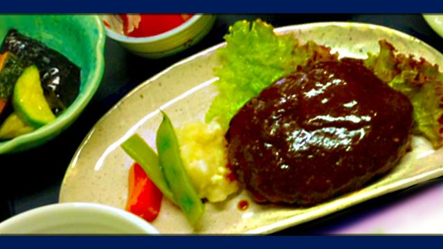 カフェレストラン糸 一番人気はこれ!ハンバーグ定食